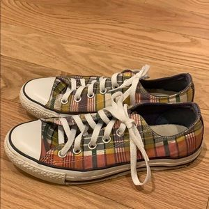Converse All star plaid low top sneakers size 7.5